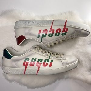 Gucci Blade Logo Ace Shoes